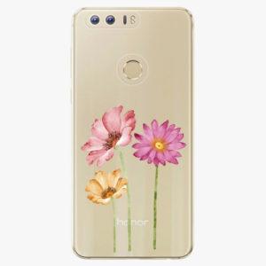 Silikonové pouzdro iSaprio - Three Flowers - Huawei Honor 8