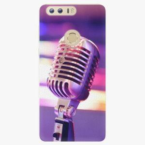 Silikonové pouzdro iSaprio - Vintage Microphone - Huawei Honor 8