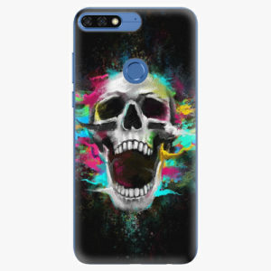 Silikonové pouzdro iSaprio - Skull in Colors - Huawei Honor 7C