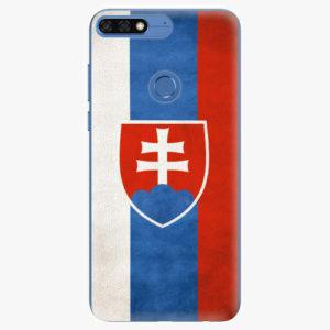 Silikonové pouzdro iSaprio - Slovakia Flag - Huawei Honor 7C