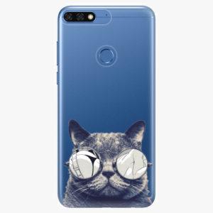 Silikonové pouzdro iSaprio - Crazy Cat 01 - Huawei Honor 7C