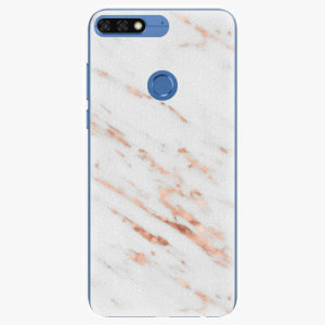 Silikonové pouzdro iSaprio - Rose Gold Marble - Huawei Honor 7C