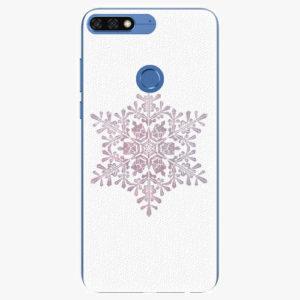 Silikonové pouzdro iSaprio - Snow Flake - Huawei Honor 7C