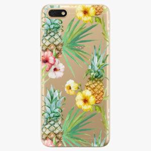 Silikonové pouzdro iSaprio - Pineapple Pattern 02 - Huawei Honor 7S