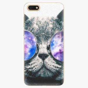 Silikonové pouzdro iSaprio - Galaxy Cat - Huawei Honor 7S