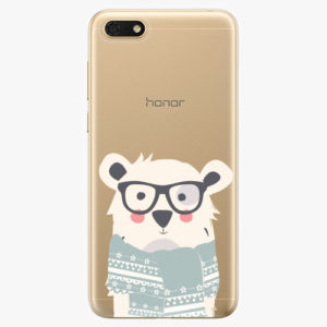 Silikonové pouzdro iSaprio - Bear with Scarf - Huawei Honor 7S