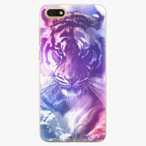 Silikonové pouzdro iSaprio - Purple Tiger - Huawei Honor 7S