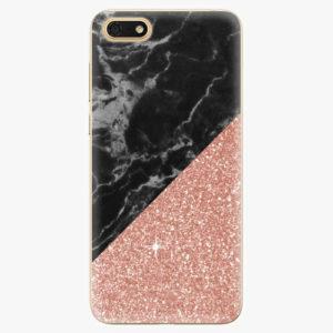 Silikonové pouzdro iSaprio - Rose and Black Marble - Huawei Honor 7S