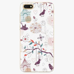 Silikonové pouzdro iSaprio - Birds - Huawei Honor 7S