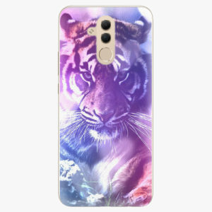 Silikonové pouzdro iSaprio - Purple Tiger - Huawei Mate 20 Lite