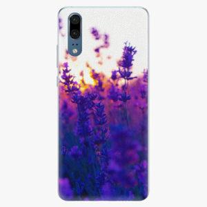 Silikonové pouzdro iSaprio - Lavender Field - Huawei P20