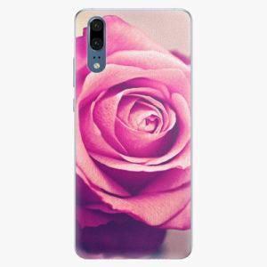 Silikonové pouzdro iSaprio - Pink Rose - Huawei P20