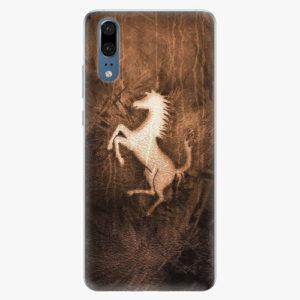 Silikonové pouzdro iSaprio - Vintage Horse - Huawei P20