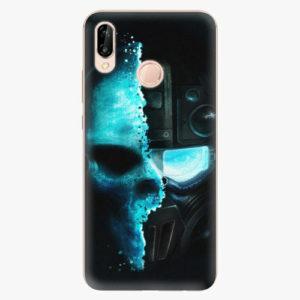 Silikonové pouzdro iSaprio - Roboskull - Huawei P20 Lite