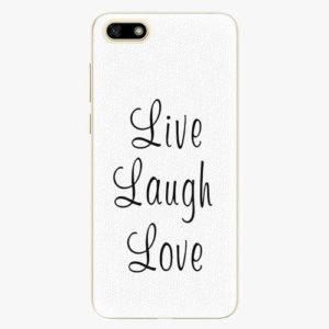 Silikonové pouzdro iSaprio - Live Laugh Love - Huawei Y5 2018