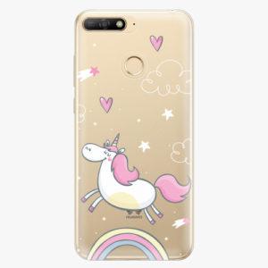 Silikonové pouzdro iSaprio - Unicorn 01 - Huawei Y6 Prime 2018