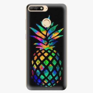 Silikonové pouzdro iSaprio - Rainbow Pineapple - Huawei Y6 Prime 2018