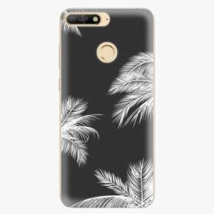 Silikonové pouzdro iSaprio - White Palm - Huawei Y6 Prime 2018