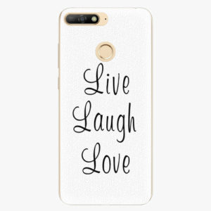 Silikonové pouzdro iSaprio - Live Laugh Love - Huawei Y6 Prime 2018