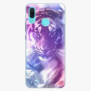 Silikonové pouzdro iSaprio - Purple Tiger - Huawei Nova 3