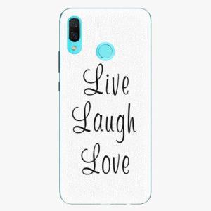 Silikonové pouzdro iSaprio - Live Laugh Love - Huawei Nova 3