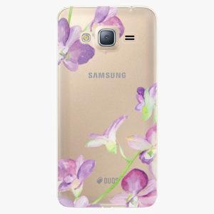 Silikonové pouzdro iSaprio - Purple Orchid - Samsung Galaxy J3