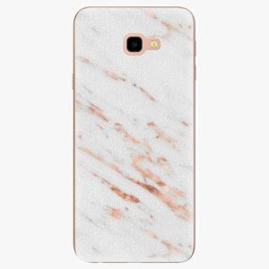Silikonové pouzdro iSaprio - Rose Gold Marble - Samsung Galaxy J4+