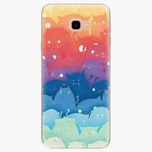 Silikonové pouzdro iSaprio - Cats World - Samsung Galaxy J4+