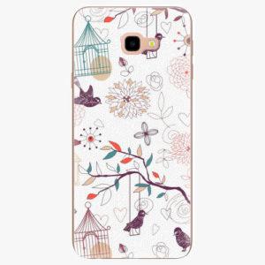 Silikonové pouzdro iSaprio - Birds - Samsung Galaxy J4+
