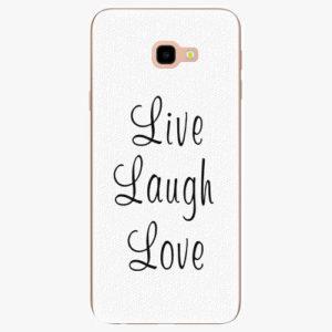 Silikonové pouzdro iSaprio - Live Laugh Love - Samsung Galaxy J4+