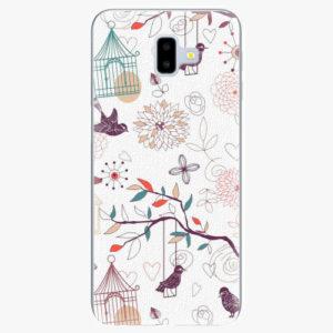 Silikonové pouzdro iSaprio - Birds - Samsung Galaxy J6+