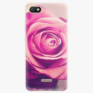 Silikonové pouzdro iSaprio - Pink Rose - Xiaomi Redmi 6A