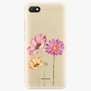 Silikonové pouzdro iSaprio - Three Flowers - Xiaomi Redmi 6A