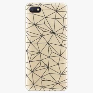 Silikonové pouzdro iSaprio - Abstract Triangles 03 - black - Xiaomi Redmi 6A