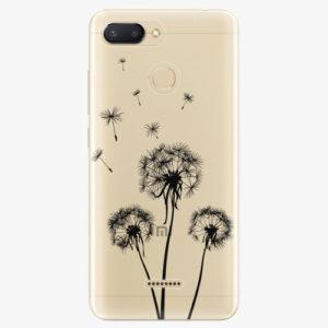 Silikonové pouzdro iSaprio - Three Dandelions - black - Xiaomi Redmi 6