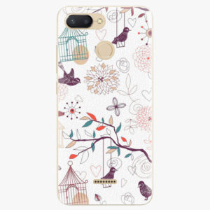 Silikonové pouzdro iSaprio - Birds - Xiaomi Redmi 6