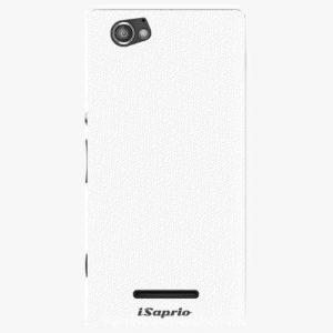 Plastový kryt iSaprio - 4Pure - bílý - Sony Xperia M