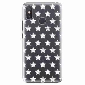 Plastový kryt iSaprio - Stars Pattern - white - Xiaomi Mi Max 3
