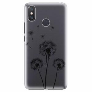 Plastový kryt iSaprio - Three Dandelions - black - Xiaomi Mi Max 3