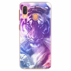 Plastový kryt iSaprio - Purple Tiger - Samsung Galaxy A40