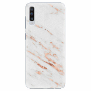 Plastový kryt iSaprio - Rose Gold Marble - Samsung Galaxy A70