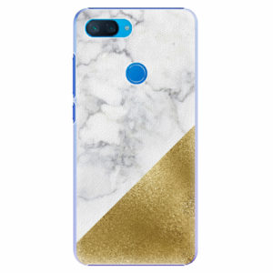 Plastový kryt iSaprio - Gold and WH Marble - Xiaomi Mi 8 Lite