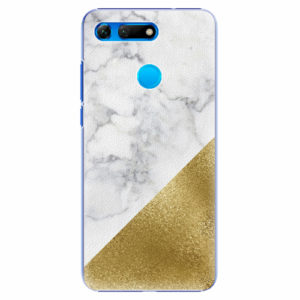Plastový kryt iSaprio - Gold and WH Marble - Huawei Honor View 20