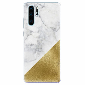 Plastový kryt iSaprio - Gold and WH Marble - Huawei P30 Pro