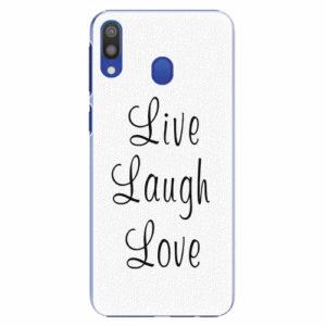 Plastový kryt iSaprio - Live Laugh Love - Samsung Galaxy M20