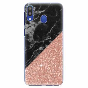 Plastový kryt iSaprio - Rose and Black Marble - Samsung Galaxy M20