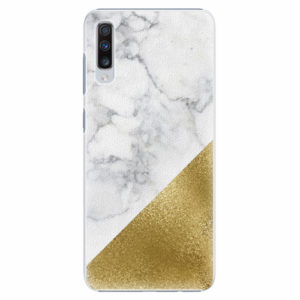 Plastový kryt iSaprio - Gold and WH Marble - Samsung Galaxy A70