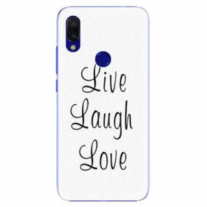 Plastový kryt iSaprio - Live Laugh Love - Xiaomi Redmi 7
