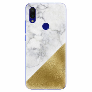 Plastový kryt iSaprio - Gold and WH Marble - Xiaomi Redmi 7