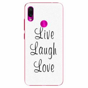 Plastový kryt iSaprio - Live Laugh Love - Xiaomi Redmi Note 7